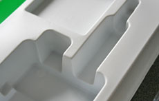 Vacuum formed plastic box inserts for the medical industry