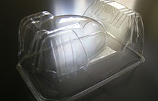 Vacuum formed plastic box inserts for the confectionery industry